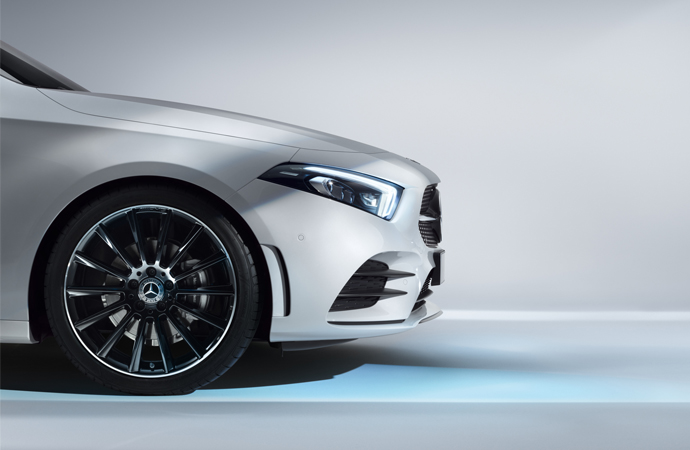 Exterior Design A-Class Lateral Front