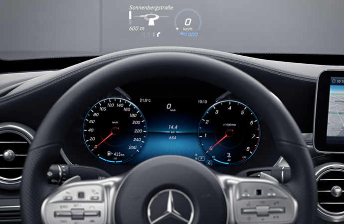 HEAD-UP DISPLAY CLASE C CONVERTIBLE
